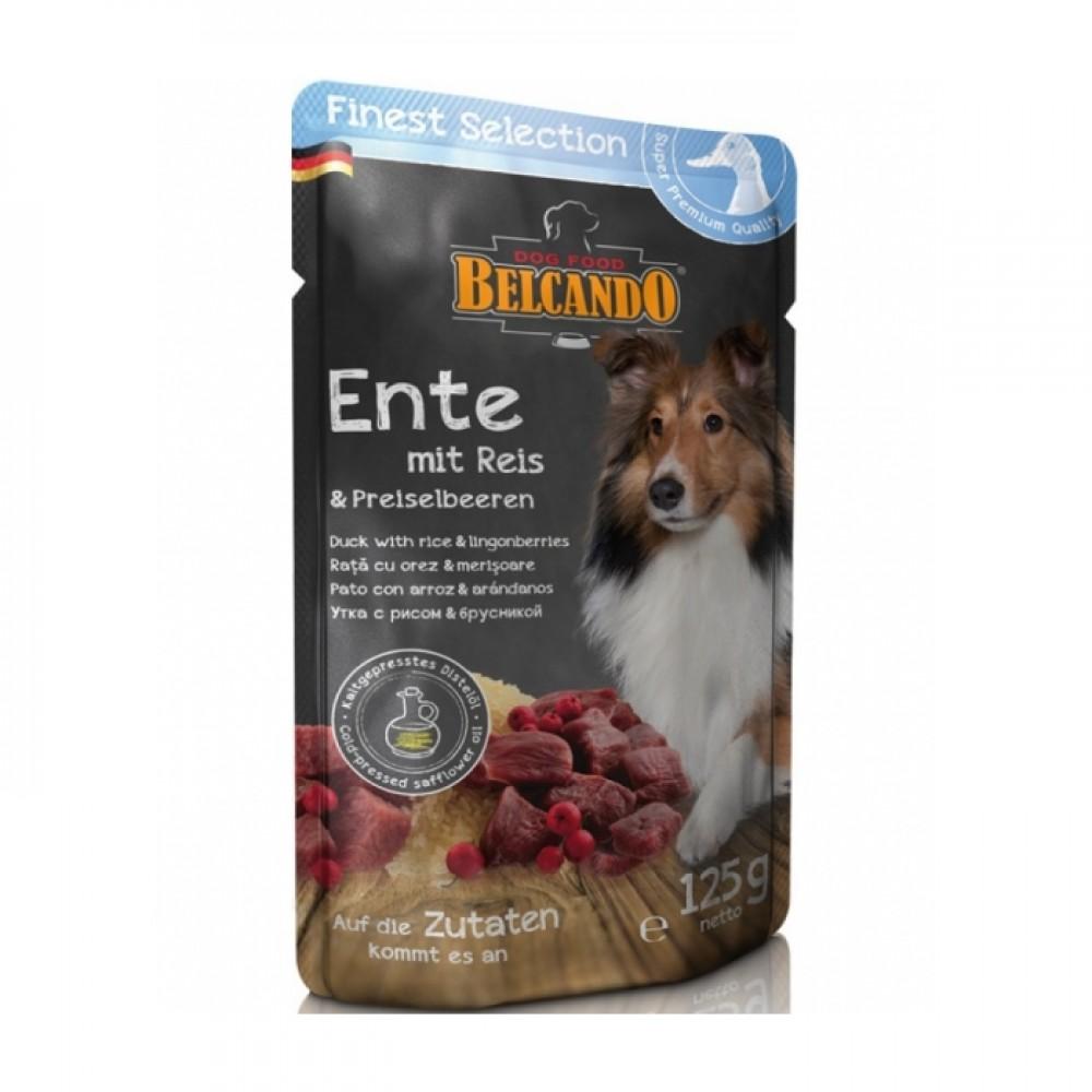 Belcando Finest Selection консервы для собак утка с рисом и брусникой 300г