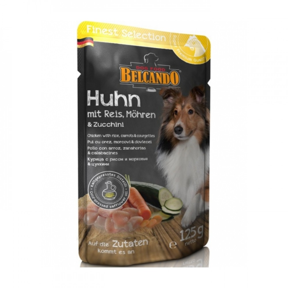 Belcando Finest Selection conserve pentru caini pui cu orez, morcovi si dovlecel