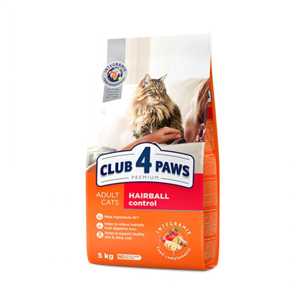 CLUB 4 PAWS PREMIUM hrană uscată completă pentru pisici adulte pentru eliminarea ghemurilor de păr