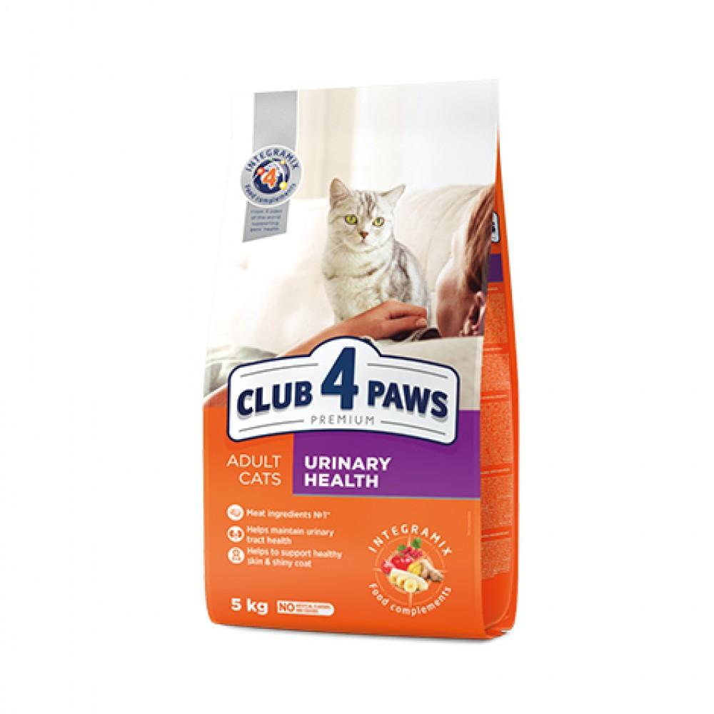 CLUB 4 PAWS PREMIUM Hrana uscată completă  pentru pisici adulte, susține sănătatea sistemului urinar