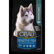Cibau Sensitive Fish Medium & Maxi, Farmina. Hrană uscată pentru câini adulți cu pește, reduce riscul de reacții alergice
