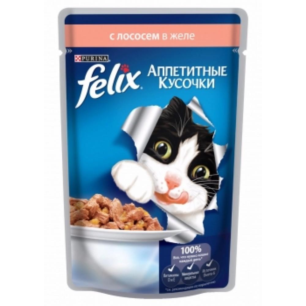Felix Purina. Conserve pentru pisici somon