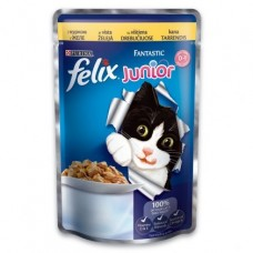 Felix Junior Purina. Консервы для котят, курица в желе