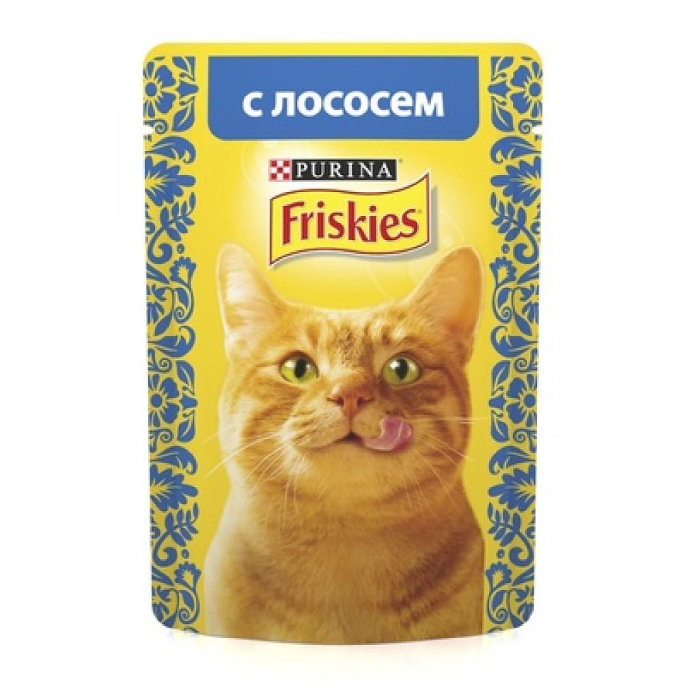 FRISKIES Adult PURINA. Консервы для кошек с лососем