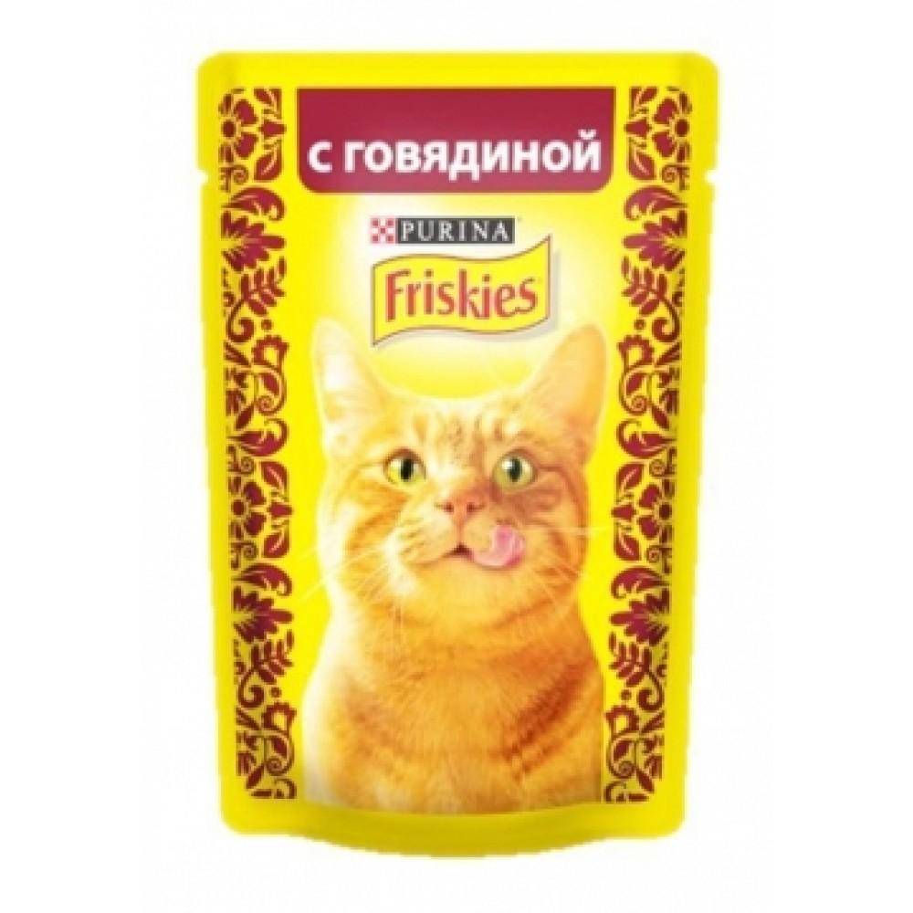 FRISKIES Adult PURINA. Консервы для кошек с говядиной