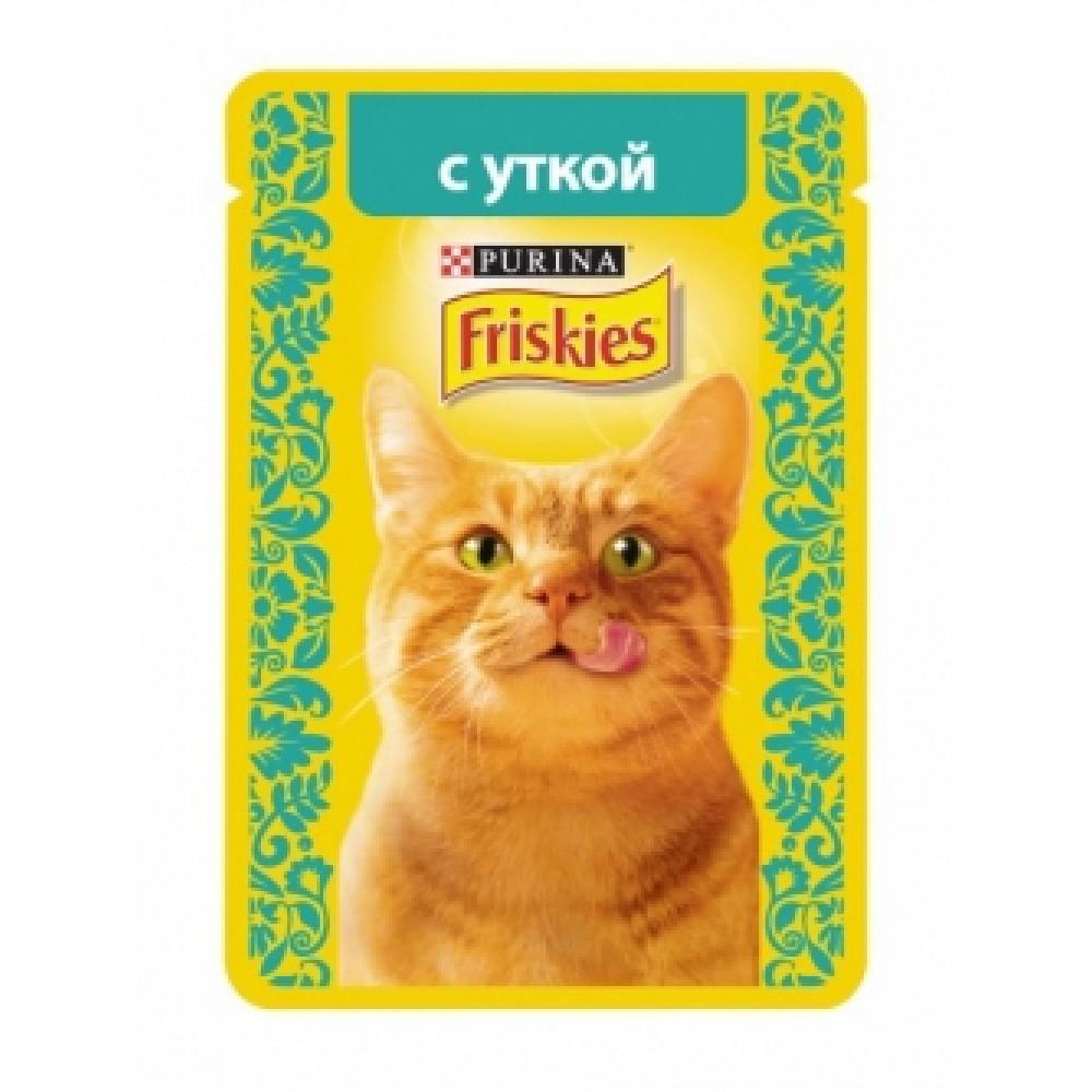 FRISKIES Adult PURINA. Консервы для кошек с уткой
