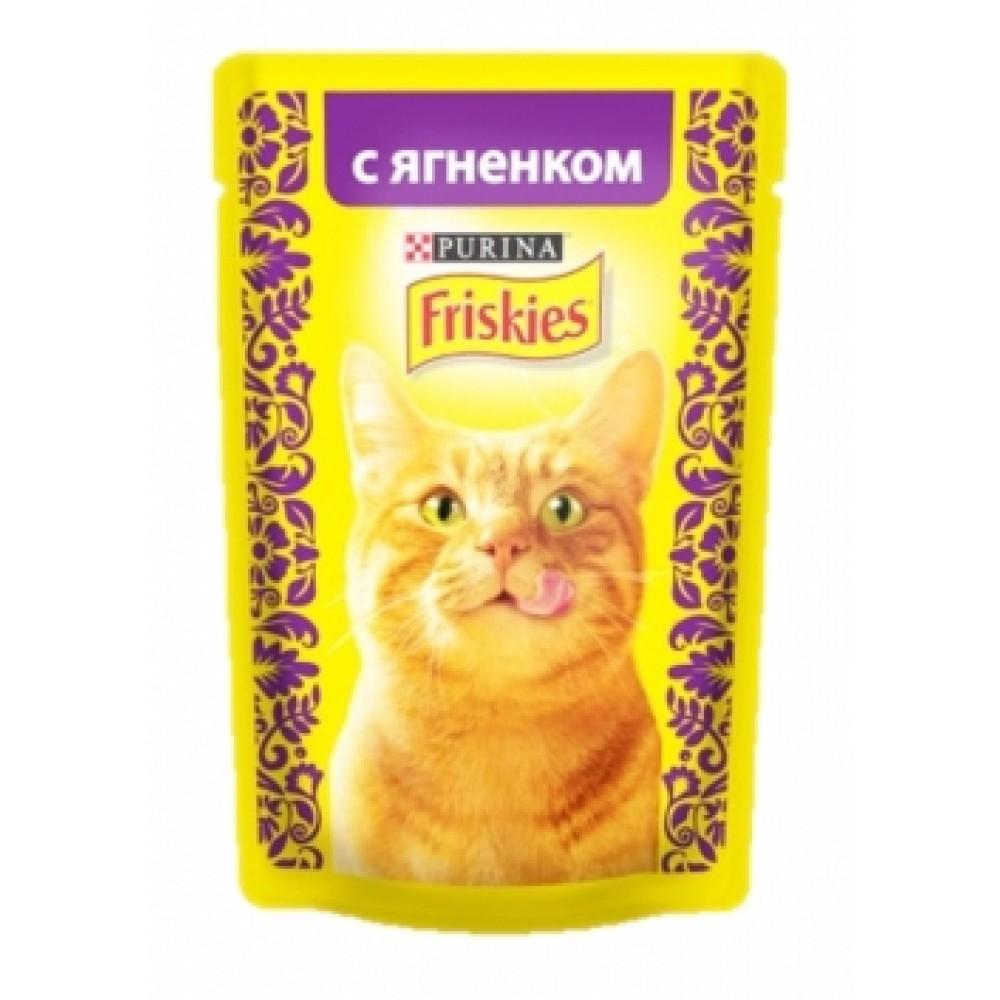 FRISKIES Adult PURINA. Консервы для кошек с ягнёнком