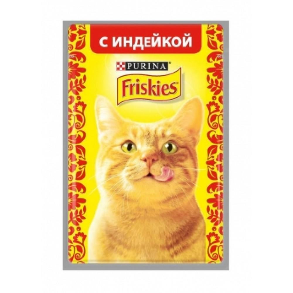 FRISKIES Adult PURINA. Консервы для кошек с индейкой