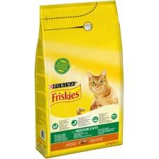 Friskies Indoor Hrană uscată pentru pisici cu pui și legume