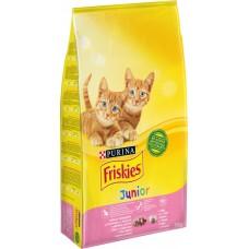 Friskies Junior Hrană uscată pentru pisoi cu pui, lapte și legume