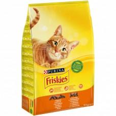 Friskies Hrana uscată pentru pisici adulte cu pui și legume