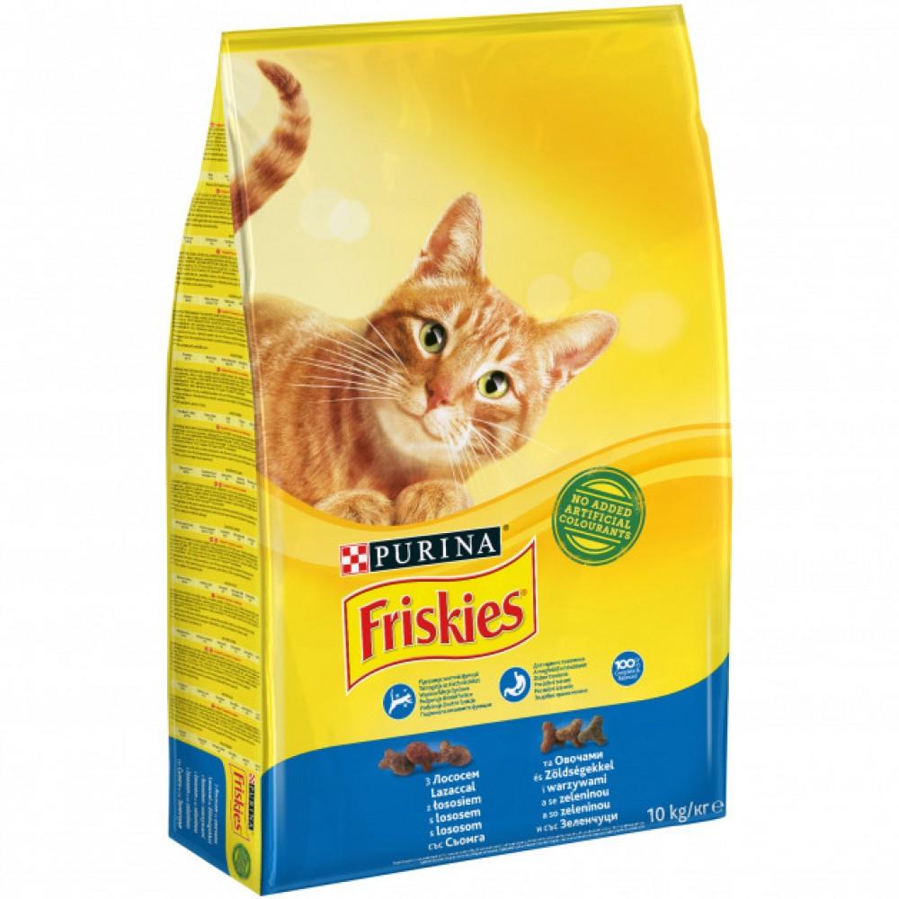 Friskies Hrană uscată pentru pisici cu Somon și legume
