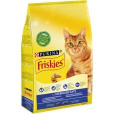 Friskies Hrană uscată pentru pisici sterilizate  cu somon și legume