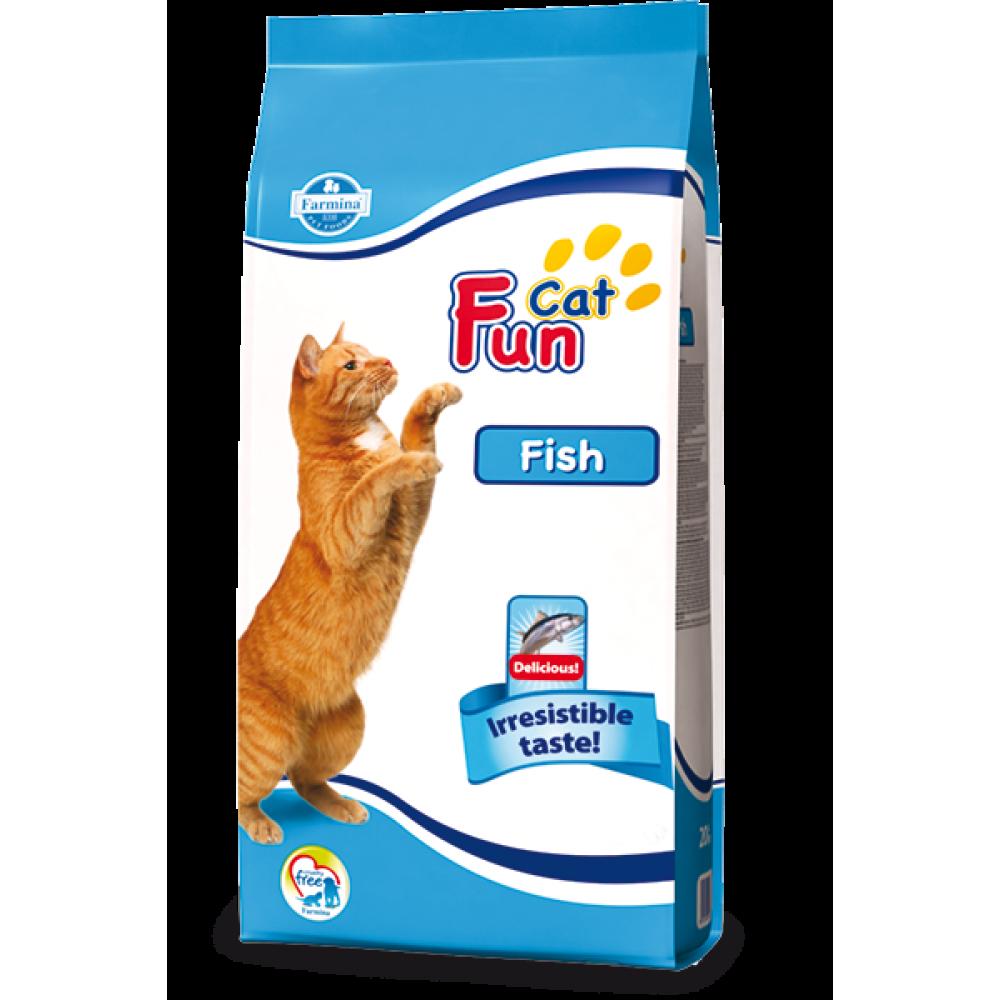 Fun Cat Fish Farmina. Hrană uscată pentru pisici adulte, pește