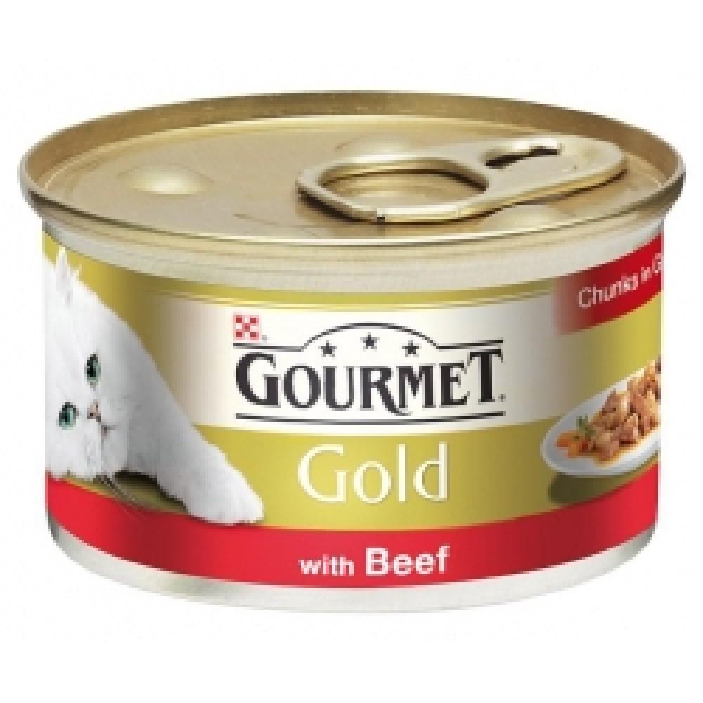 Gourmet Gold паштет с говядиной, консервы для кошек