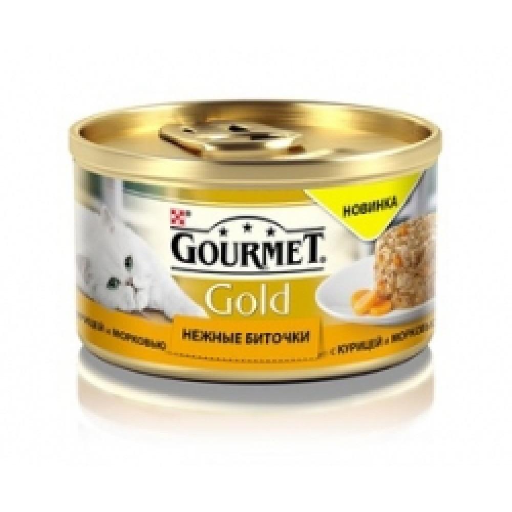 Gourmet Gold cu pui și morcov. Conserve pentru pisici adulte