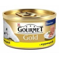 Gourmet Gold паштет с курицей, консервы для кошек