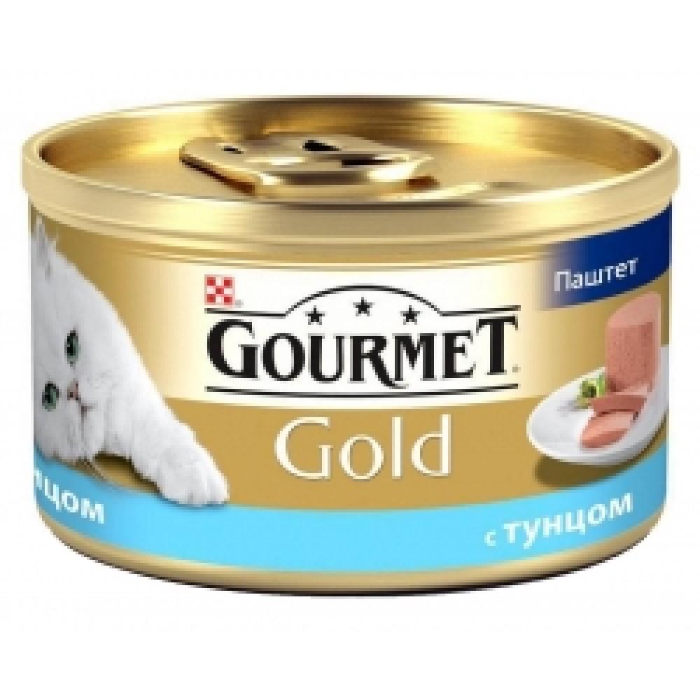 Gourmet Gold pateu cu tonși scrumbie. Conserve pentru pisici adulte