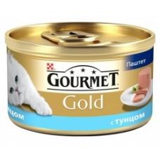 Gourmet Gold паштет с тунцом, скумбрией, консервы для кошек
