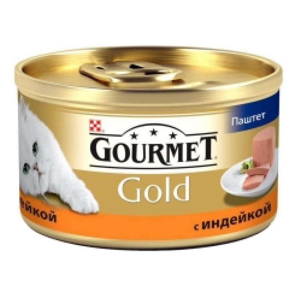 Gourmet Gold паштет с индейкой, консервы для кошек