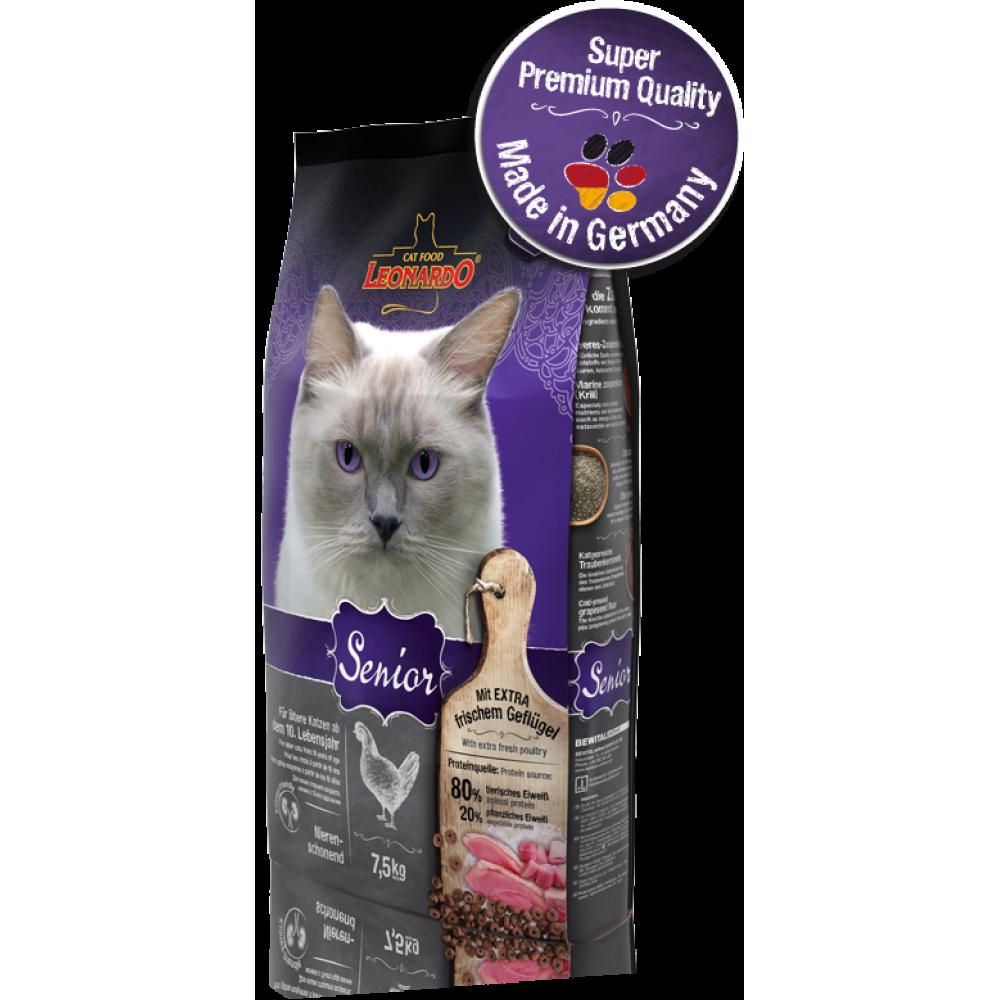 LENARDO SENIOR RICH IN POULTRY Hrană pentru pisici în etate