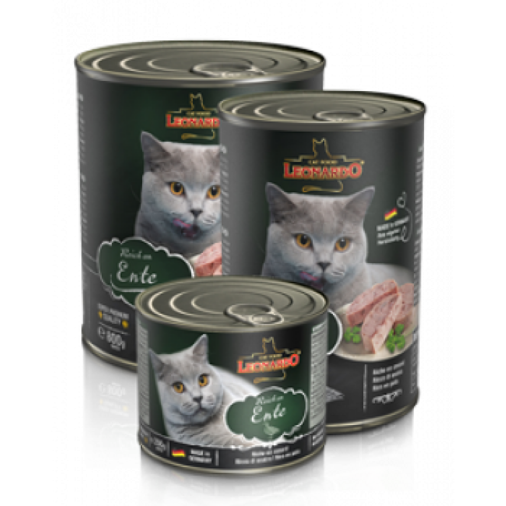 Leonardo Duck Quality Selection Quality. Conserve pentru pisici. Rață
