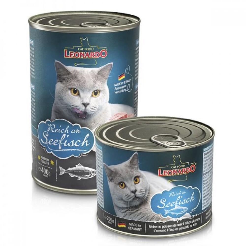 Leonardo Rich In Oceanfish Quality Selection . Conserve pentru pisici. Pește