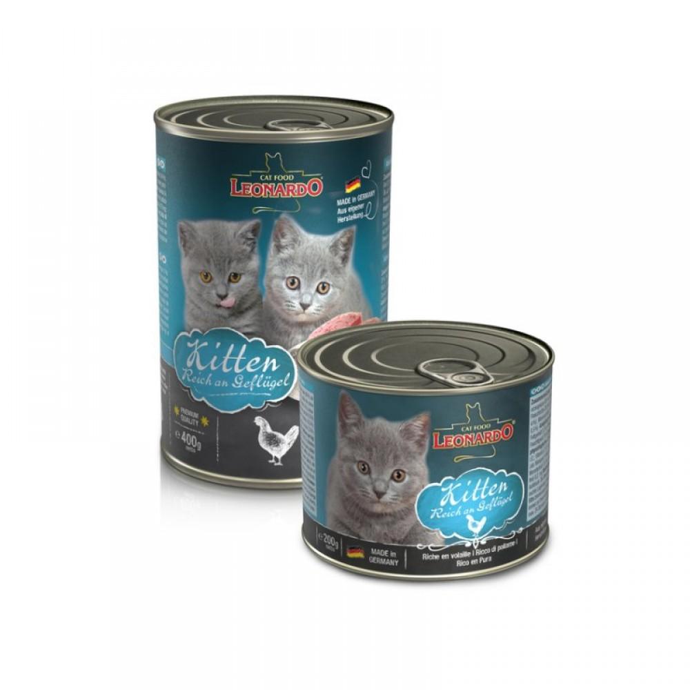 Leonardo Kitten Rich In Poultry Quality Selection Hrană pentru pisoi