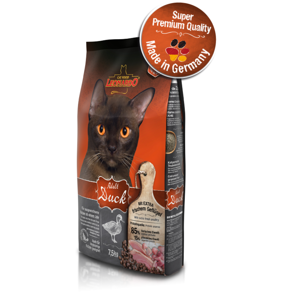 LEONARDO ADULT DUCK & RICE Корм для кошек утка и рис