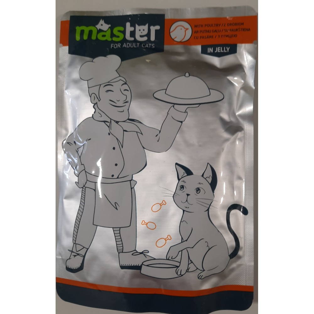 Master Консервы для взрослых кошек со вкусом птицы в желе