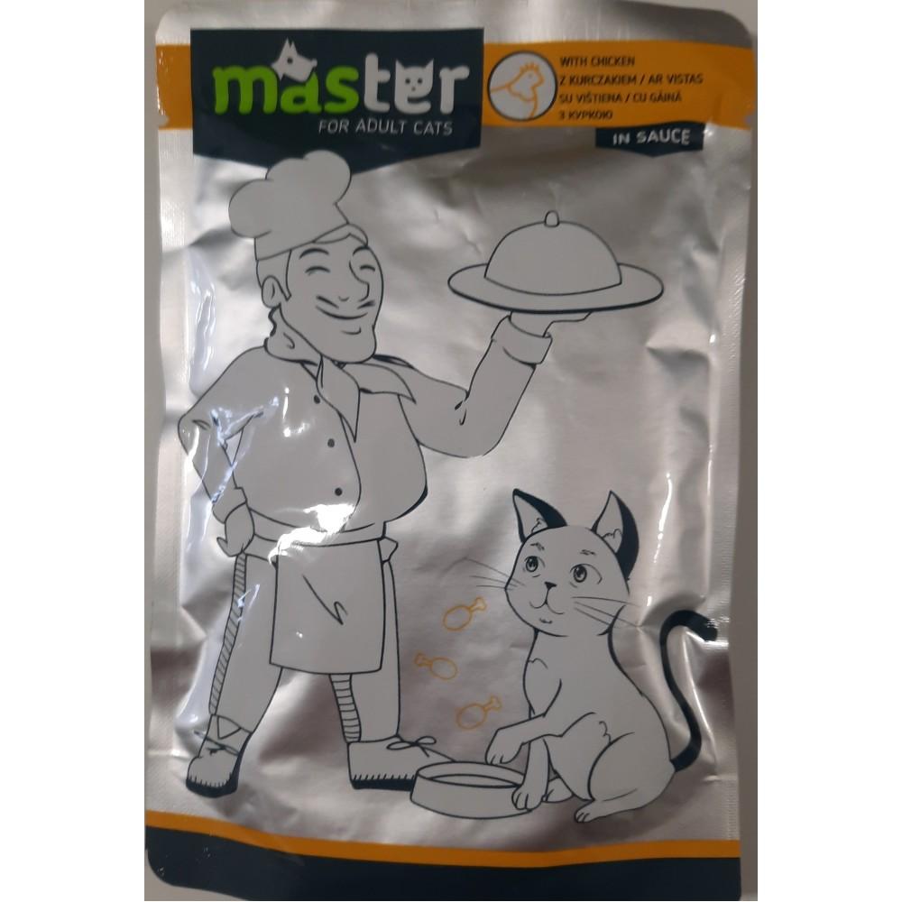 Master Консервы для взрослых кошек со вкусом курицы в соусе