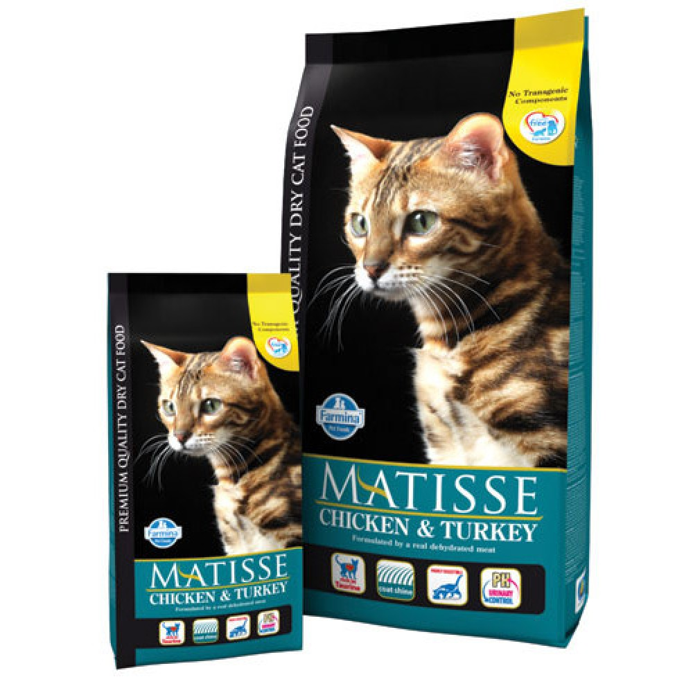 Matisse Chicken & Turkey. Hrană uscată pentru pisici adulte. Găină și curcan