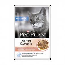 PRO PLAN Housecat Nutrisavour, PURINA. Консервы для кошек, живущих дома, с лососем