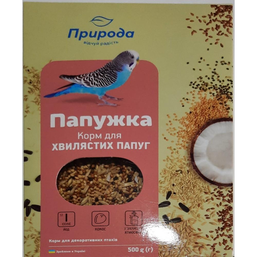 Природа  «Папужка йод + кокос» Корм Для волнистых попугаев