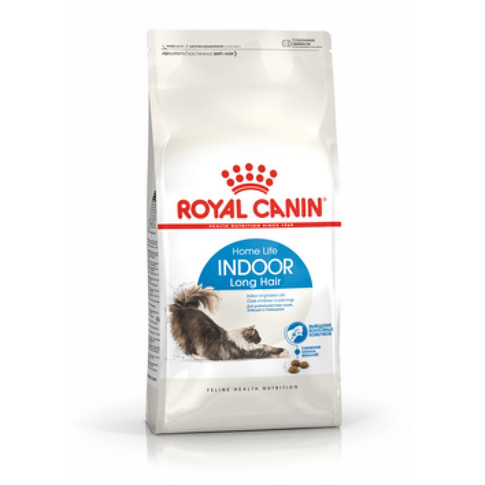 ROYAL CANIN Indoor Long Hair. Сухой корм для домашних длинношерстных кошек от 1 до 10 лет