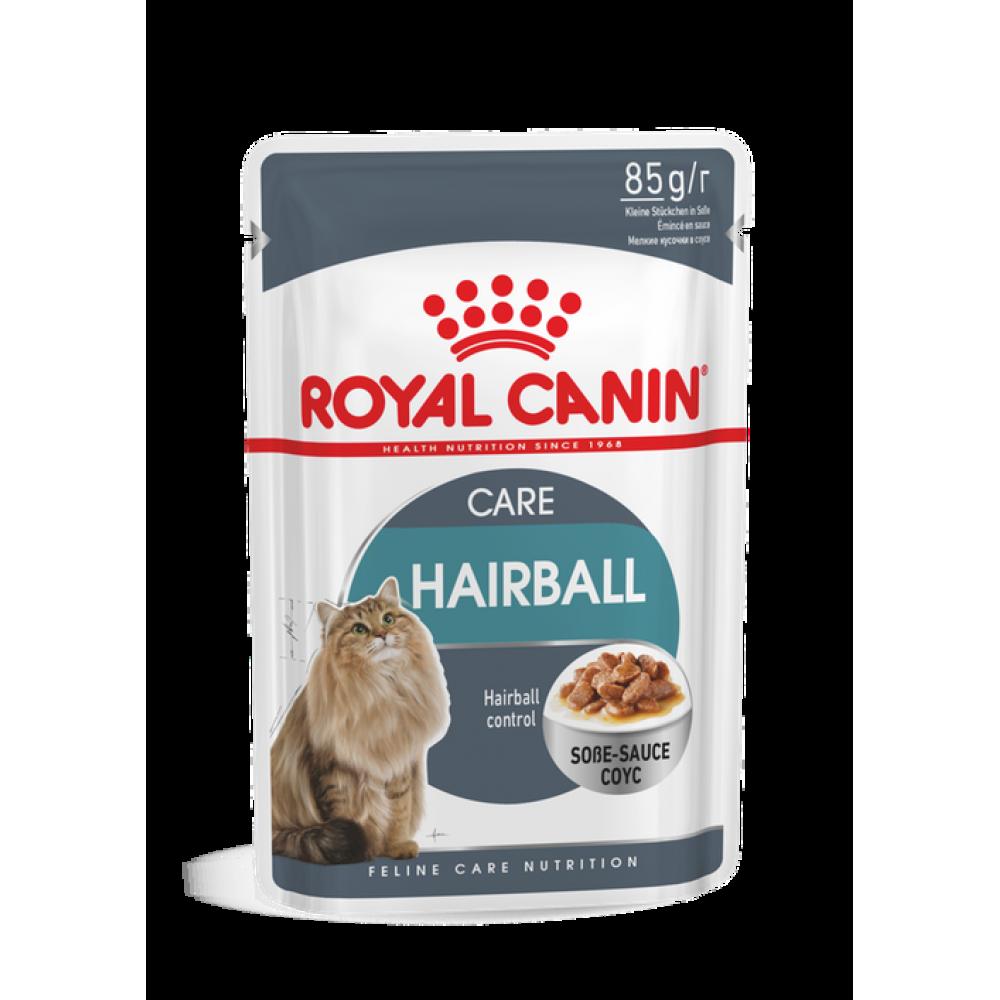ROYAL CANIN Консервы для взрослых кошек для выведения шерстяных комочков, в соусе