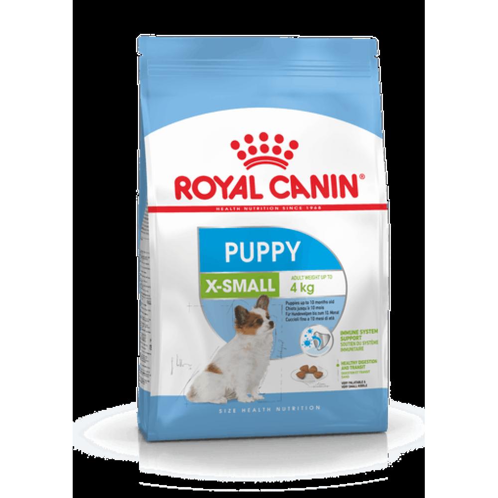 ROYAL CANIN X-SMALL PUPPY. Hrană completă pentru cățeii de talie foarte mică, cu greutatea de adult de până la 4 kg