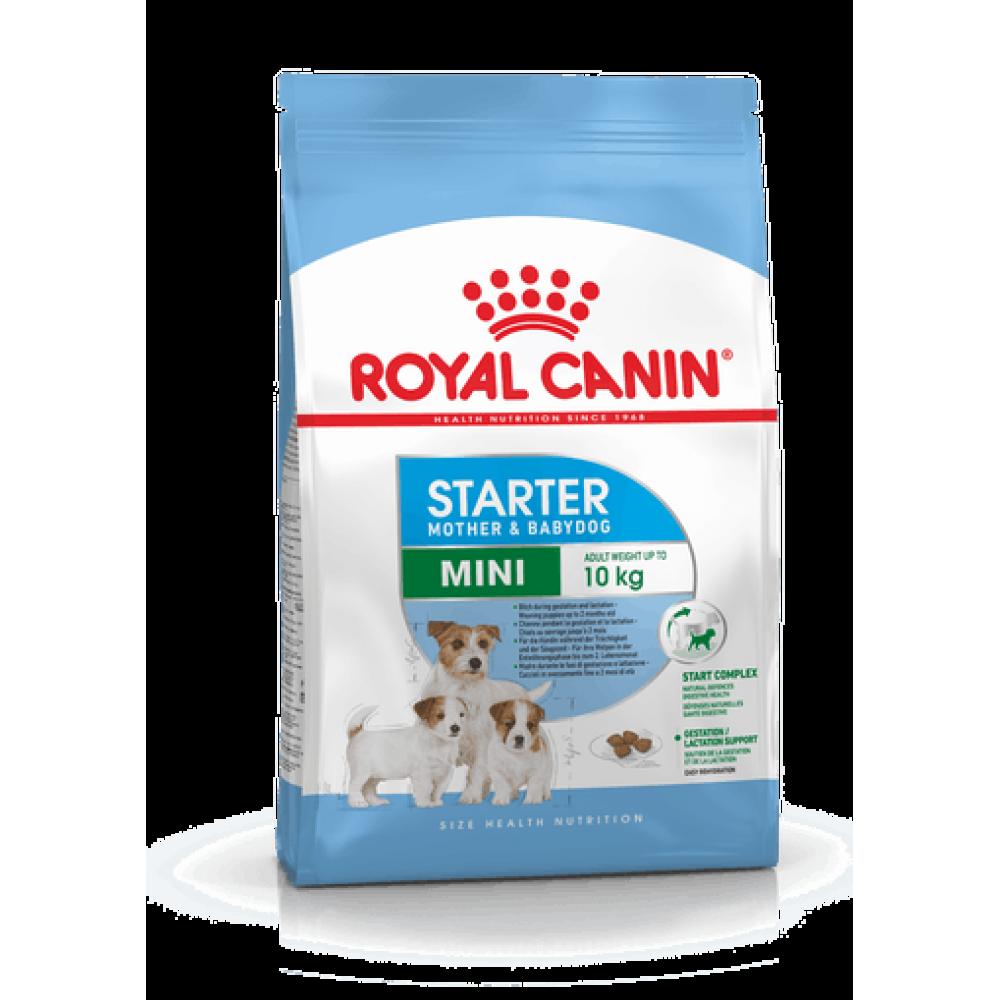 ROYAL CANIN Mini Starter Mother & Babydog. Hrană completă pentru căței de talie mică aflați în perioada de înțărcare și femele aflate în ultima etapă de gestație sau pe întreg parcursul perioadei de lactație.