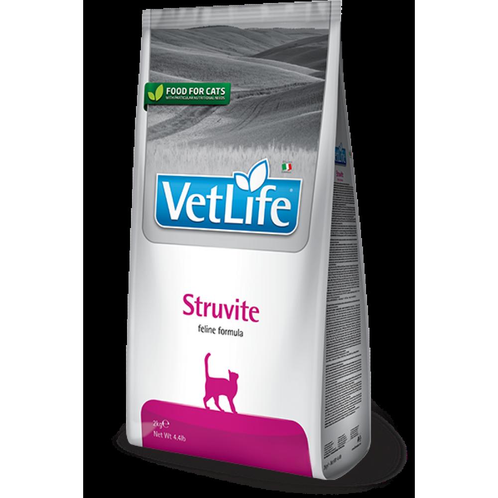 Vet Life Cat Struvite, Farmina. Hrană uscată pentru dizolvarea urolitelor struvite.