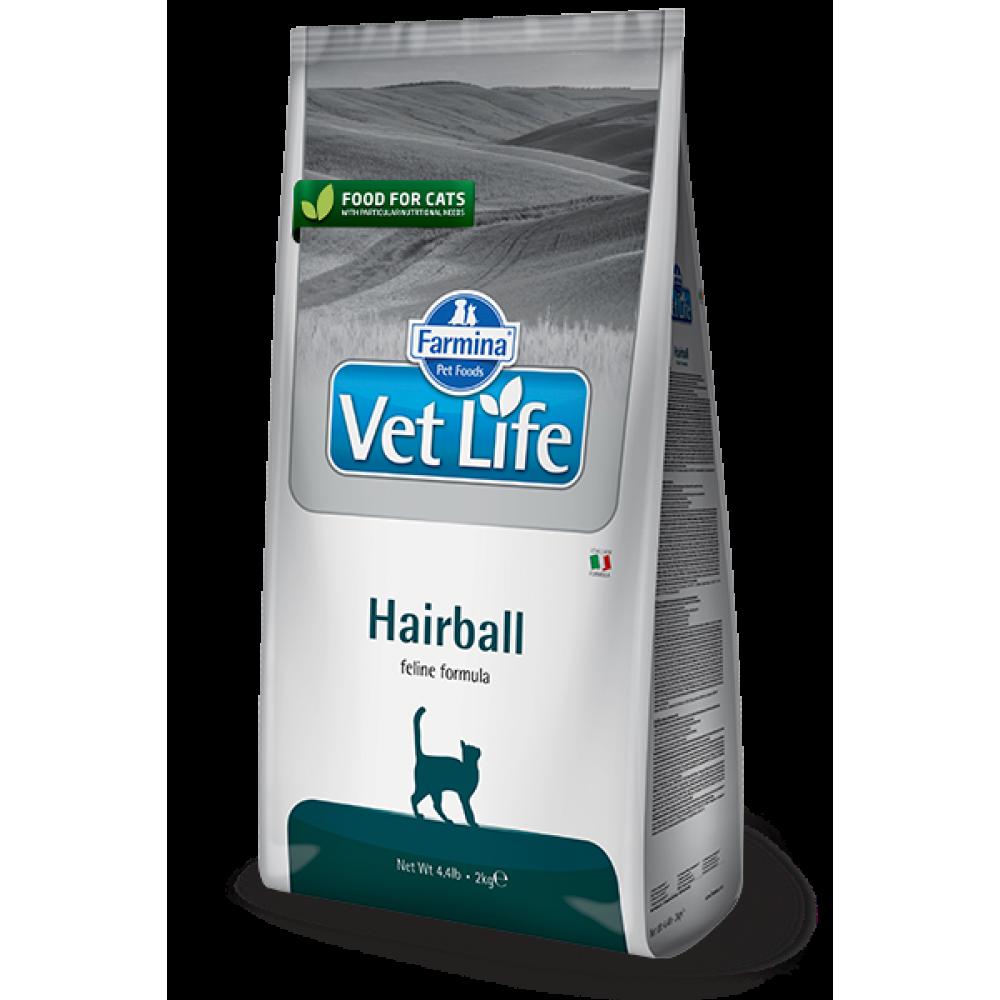 Vet Life Cat Hairball, Farmina. Сухой корм для кошек, для выведения шерстяных комочков