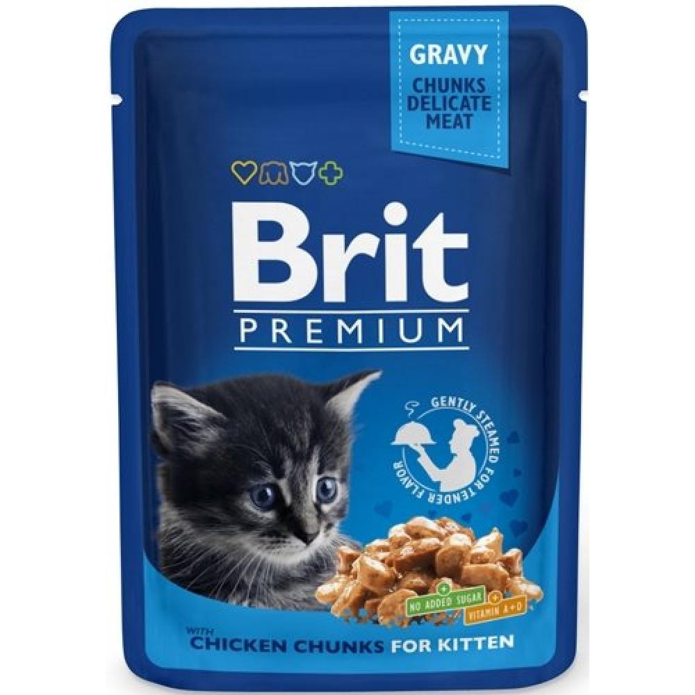 Brit  Premium conservă pentru pisoi până la un an cu gust de pui în sos
