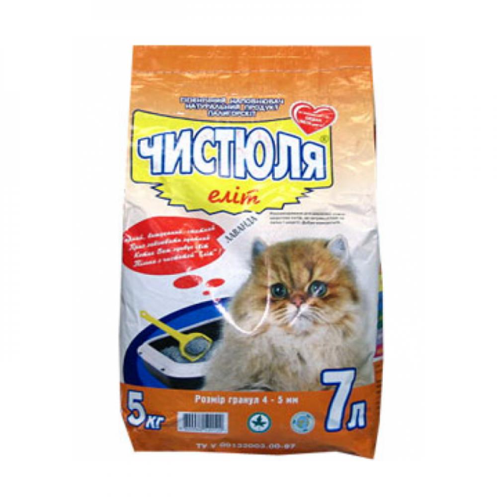 Наполнитель для кошачьего туалета Чистюля Элит