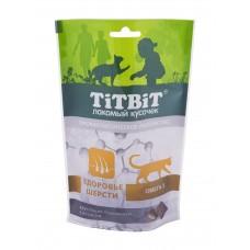 TiTBiT Хрустящие подушечки для кошек  с лососем для здоровья шерсти