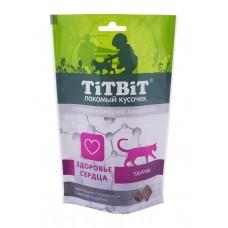 TiTBiT Хрустящие подушечки для кошек с мясом индейки для здоровья сердца