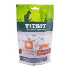 TiTBiT Хрустящие подушечки для кошек с говядиной для выведения шерсти