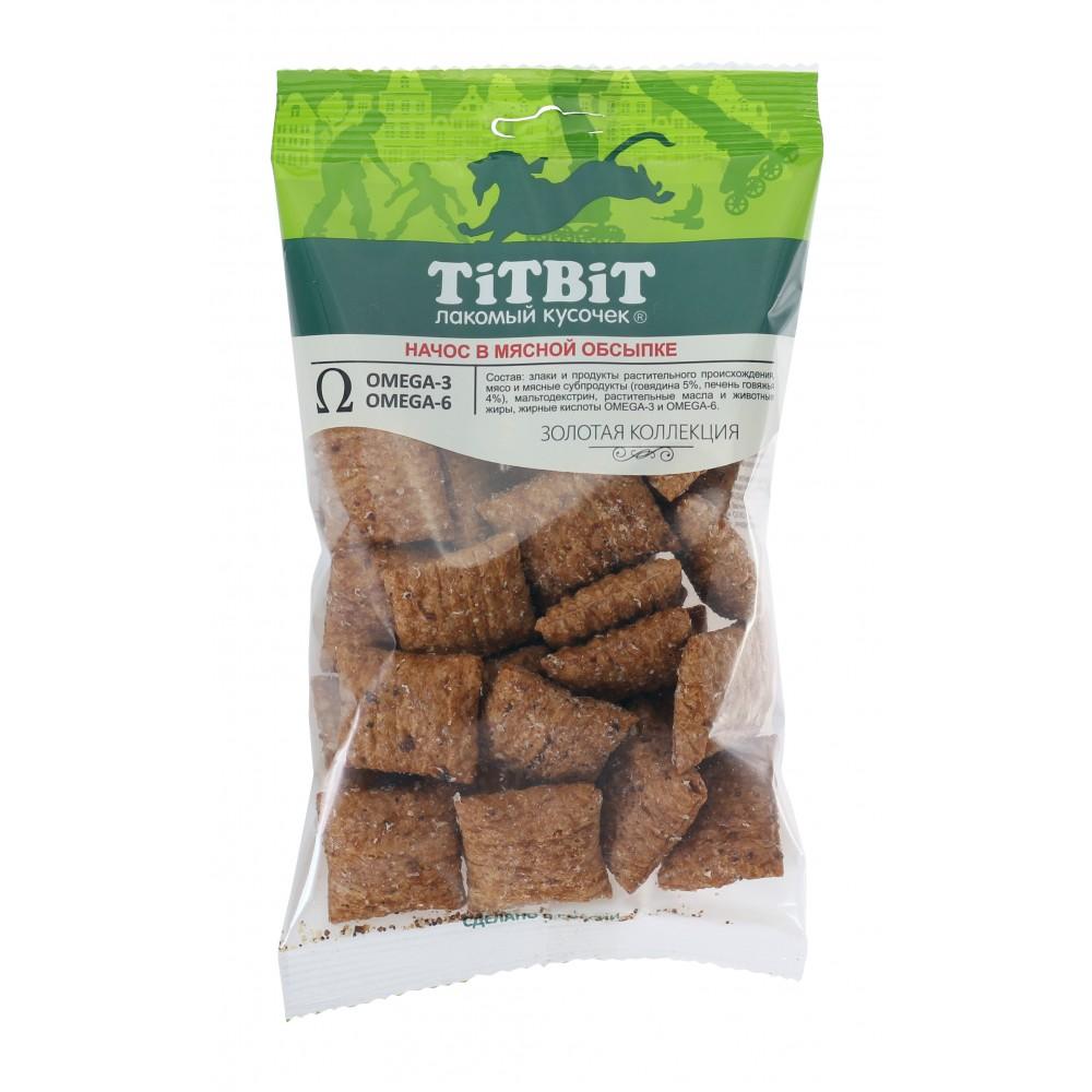 TiTBiT Золотая коллекция Начос в мясной обсыпке для собак