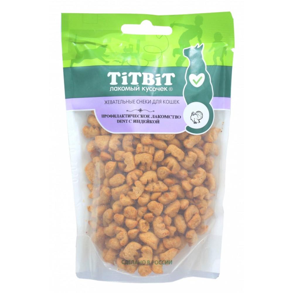 TiTBiT Профилактическое лакомство Dent с индейкой для кошек