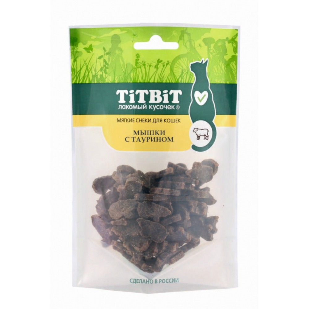 TiTBiT Мышки с таурином для кошек (Мягкие снеки)