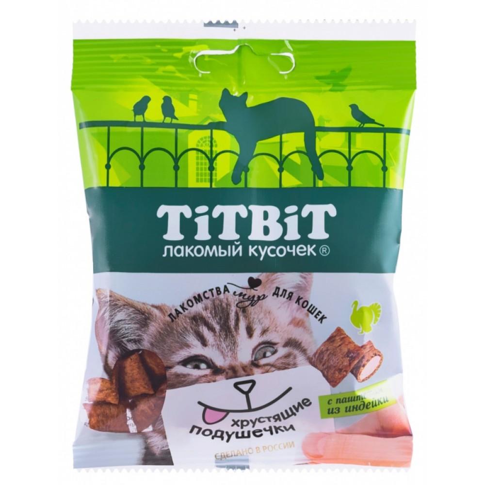 TiTBiT Pernuțe crocante cu pateu de curcan pentru pisici