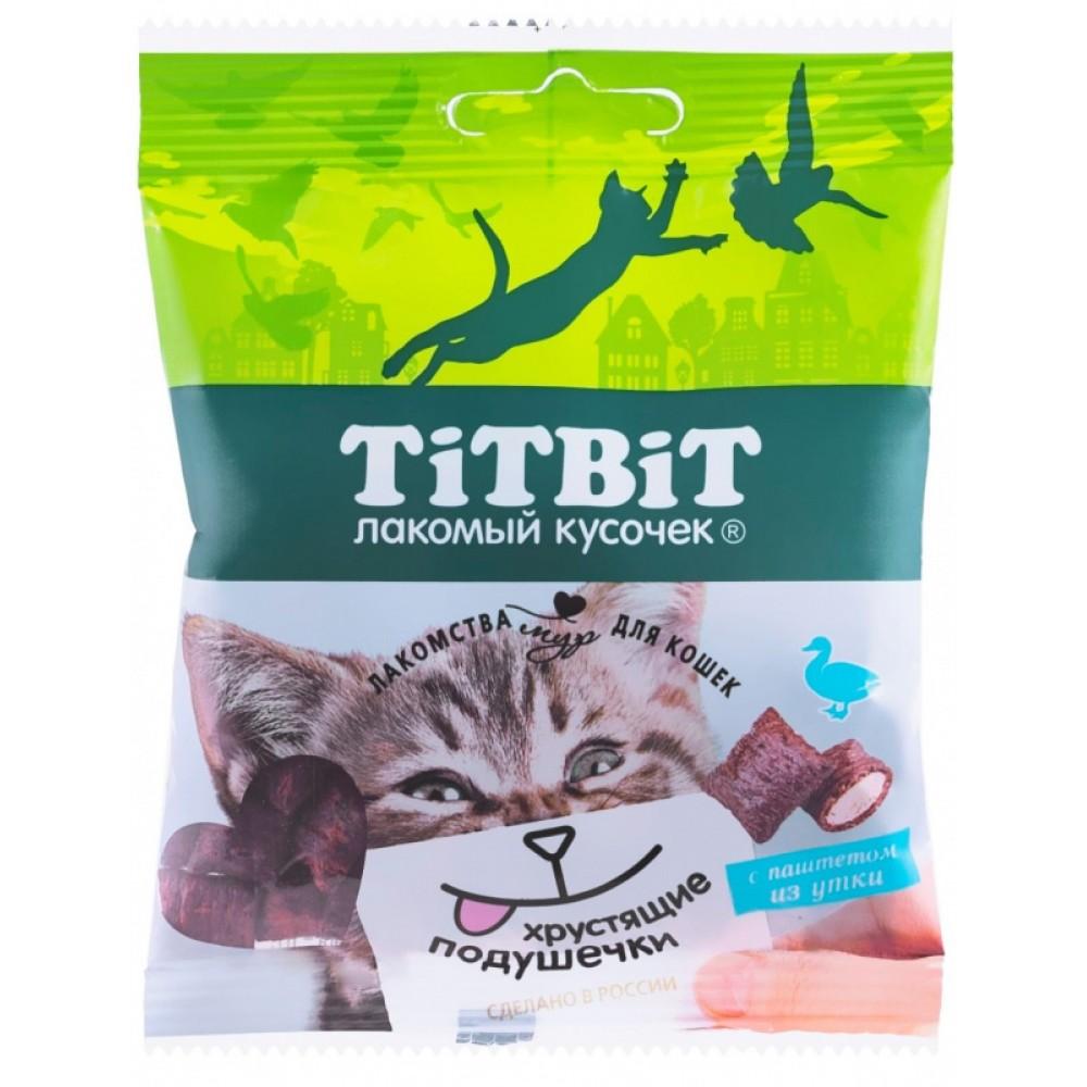 TiTBiT Pernuțe crocante cu pateu de rață pentru pisici